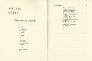 Mildred Green poem